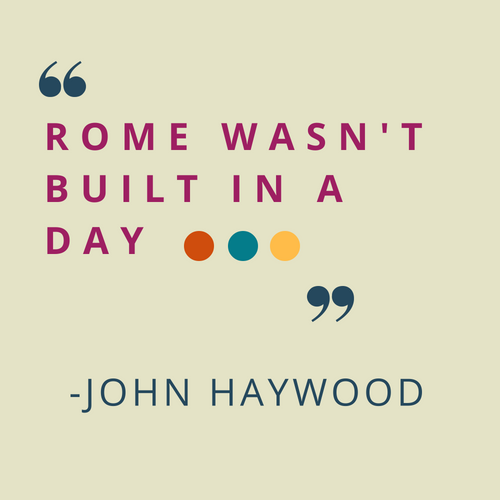 rome wasn't built in a day addage